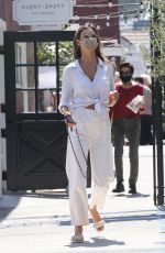 Alessandra Ambrosio Goes shopping with her son Noah at the Brentwood Country Mart in Brentwood