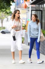Alessandra Ambrosio Joins a friend during a Pilates session in Los Angeles