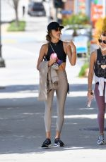 Alessandra Ambrosio Keeps it casual for a Pilates class with a friend in Los Angeles