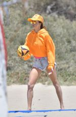 Alessandra Ambrosio Playing beach volleyball with her boyfriend Richard Lee and in Santa Monica