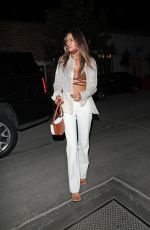 Alessandra Ambrosio Shows off her toned abs as she grabs dinner at Gigi