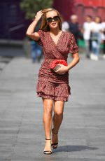 Amanda Holden Pictured outside the Global Radio studios in London