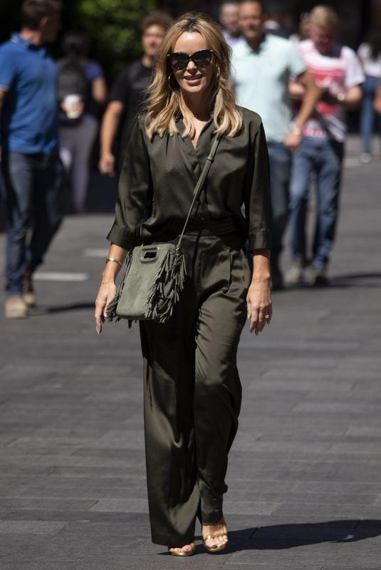 Amanda Holden Seen leaving Global Radio in Leicester Square