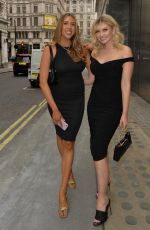 Amy Hart Heads to dinner and drinks with a friend at the Savoy hotel