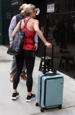 Amy Robach Running to Good Morning America on National Running Day in New York