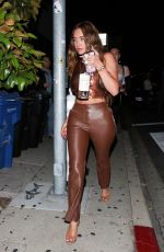 Anastasia Karanikolaou (Stassiebaby) Arrives at Poppy while enjoying a night out with her friends in West Hollywood