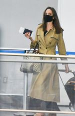 Angelina Jolie Arrives at JFK Airport in New York