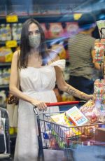 Angelina Jolie In a summery white dress as she shops for groceries during her recent birthday trip to New York