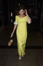 Anna Friel Seen at Petersham Nurseries x Lily Lewis: Safe Spaces Private View and Dinner in London