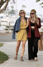 AnnaLynne & Rachel McCord Get together for a waterfront stroll in Los Angeles