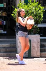 April Love Geary Gets a sandwich after a workout session in Malibu