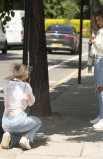 Arabella Chi Seen out and about in South Kensington on a Photoshoot