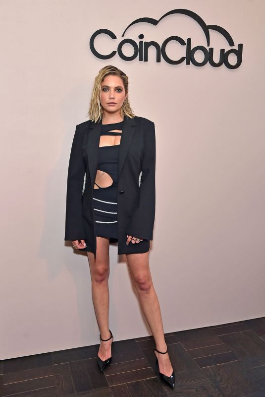 Ashley Benson Attending the Coin cloud cocktail party in Los Angeles