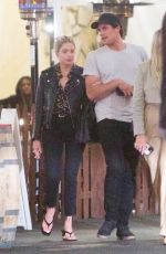 Ashley Benson Is spotted out and about with friends at Saddle Ranch in Hollywood
