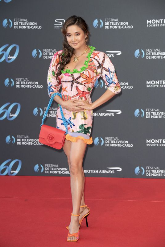 Ashley Park Attends the Opening Ceremony of the 60th Monte Carlo TV Festival in Monaco