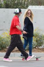 Avril Lavigne And Mod Sun hang out at a Skate park after they visited a Crystal store in Malibu