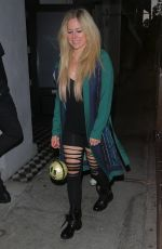 Avril Lavigne Is all smiles while spotted leaving dinner at Craig