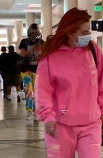 Bella & Dani Thorne Are seen leaving Los Angeles at LAX Airport