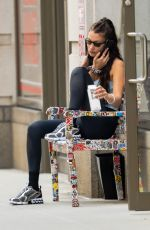Bella Hadid Pictured leaving a gym in New York City