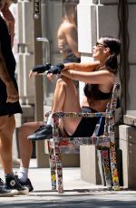 Bella Hadid Pictured leaving a gym workout session in New York City