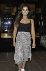 Bethannie Hare The Hollyoaks Actress who plays Cher Winters seen leaving The Ivy bar in Manchester