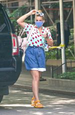 Busy Philipps Steps out in her 42nd birthday wearing a heart print shirt in New York