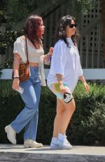 Camila Cabello Goes to lunch with her mother Sinuhe Estrabao and sister Sofía at San Vicente Bungalows in West Hollywood