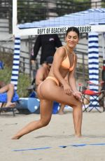 Camila Coelho In a tiny two-piece during a volleyball match in Santa Monica