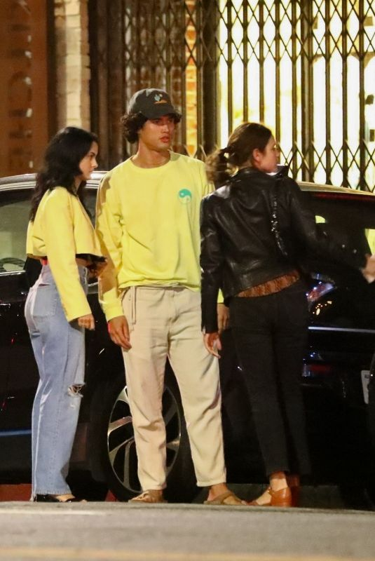 Camila Mendes and Charles Melton are spotted During a Night Out with Friends in Los Angeles