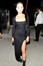 Charly Jordan Keeps it simple in an all-black dress while grabbing a late dinner at BOA Steakhouse in West Hollywood