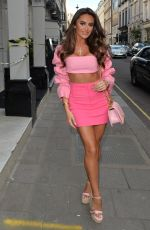 Chloe Brockett & Mia Sully Seen heading for a girls night out at Bagatelle in Mayfair, London