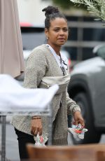 Christina Milian Out for lunch at Mauro