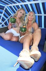 Claudia Fijal and Colleen McGinniss hosts the weekly pool party at Sapphire Pool and Dayclub in Las Vegas
