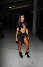 Dani Torres Makes an appearance at the TikTok vs YouTube boxing match at the Hard Rock Stadium in Hollywood