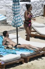 Daniella Semaan Spotted on holiday in the Greek island of Mykonos