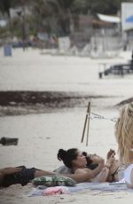 Delilah Hamlin Hits the beach with friends in Tulum