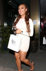 Demi Jones Attends Beauty Works at the South Place Hotel in London