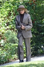 Diane Keaton Is a dapper queen while out for lunch at the Bel Air Hotel