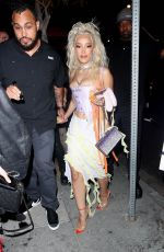 Doja Cat Arrives at Her Planet Her Album Release Party in Los Angles -