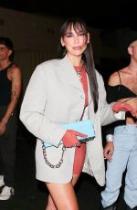 Dua Lipa Enjoys a night out at Delilah in West Hollywood