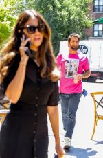 Eiza Gonzalez Takes a phone call as she arrives for lunch in New York