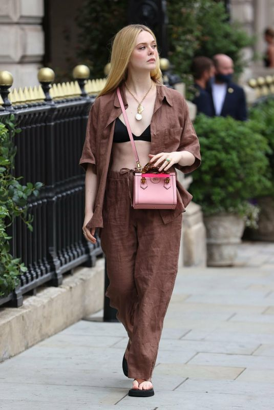 Elle Fanning Out and about in London