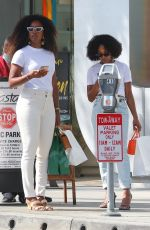elly Rowland Enjoying a day of shopping with a friend in Beverly Hills
