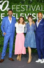 """Elodie Varlet Attends """"Plus Belle La Vie"""" photocall during the 60th Monte Carlo Festival in Monaco"""