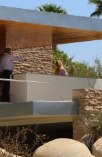 Elsa Hosk and Tom Daly got a private tour of the famous Kaufmann house in Palm Springs