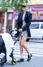 Elsa Hosk Is pictured out on a stroll in New York