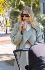 Elsa Hosk Takes her baby for a stroll and makes it fashion in Pasadena