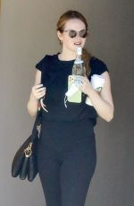 Emma Stone At the gym in Santa Monica