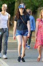 Emmy Rossum Spotted at Central Park in New York