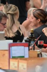 Famke Janssen Enjoys dinner with a mystery man at Bar Pitti in New York